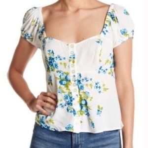 NWT Free People close to you floral top